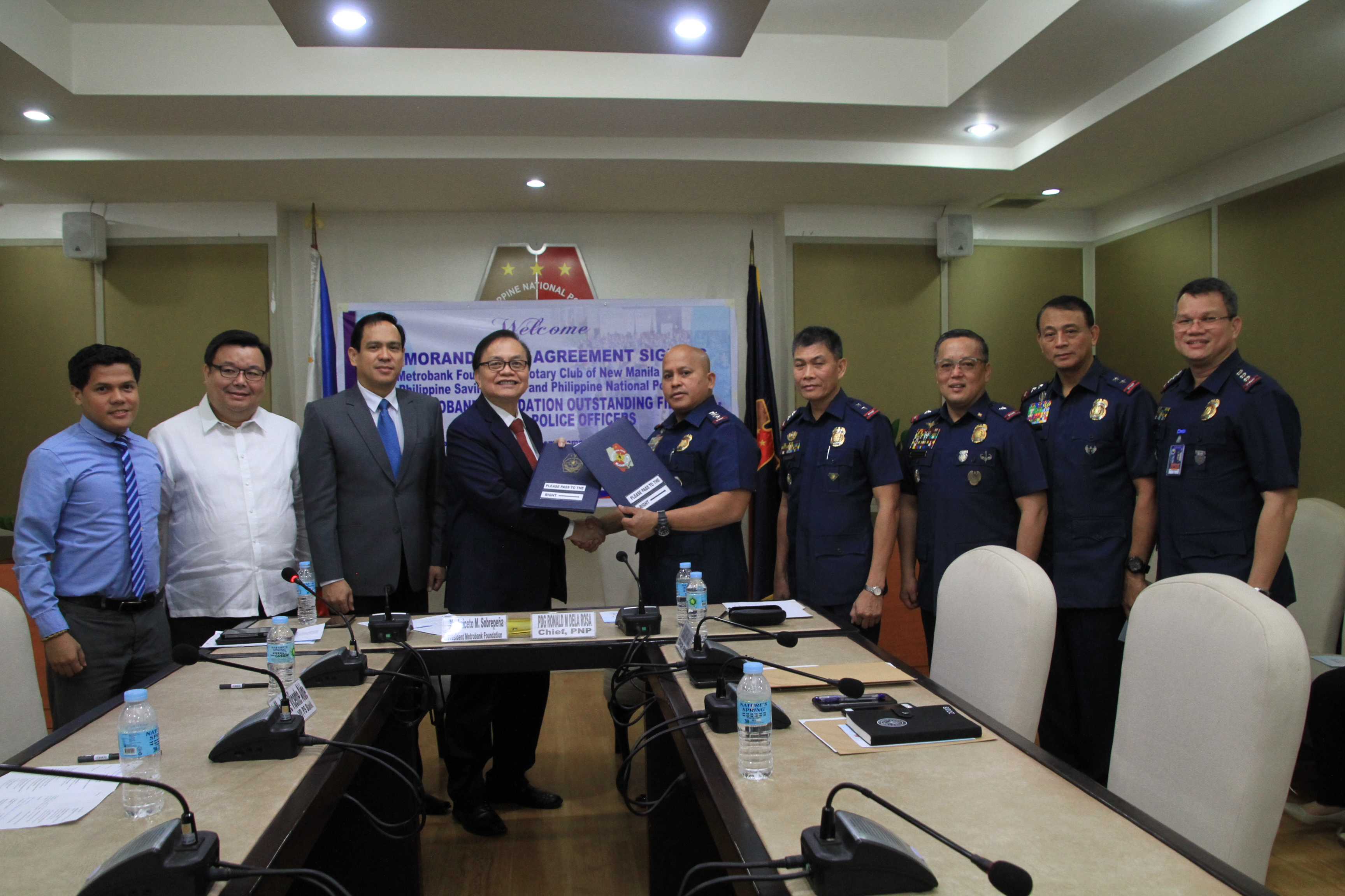 Signing of MOA for the 2018 Metrobank Foundation Outstanding Filipinos – Award for Police Officers